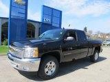2012 Black Chevrolet Silverado 1500 LT Extended Cab 4x4 #62596181