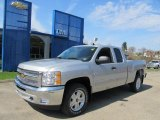 2012 Silver Ice Metallic Chevrolet Silverado 1500 LT Extended Cab 4x4 #62596180
