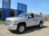 2012 Silver Ice Metallic Chevrolet Silverado 1500 LS Regular Cab 4x4 #62596177