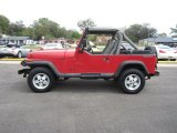 1990 Jeep Wrangler Colorado Red
