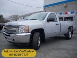2012 Silver Ice Metallic Chevrolet Silverado 1500 LT Regular Cab 4x4 #62596113