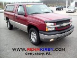 2004 Sport Red Metallic Chevrolet Silverado 1500 LS Regular Cab 4x4 #62596446