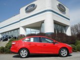 2012 Race Red Ford Focus SEL Sedan #62596069