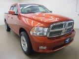 2009 Sunburst Orange Pearl Dodge Ram 1500 Sport Quad Cab 4x4 #62595980