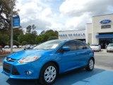 2012 Blue Candy Metallic Ford Focus SE 5-Door #62596215