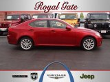 2008 Matador Red Mica Lexus IS 250 AWD #62663123