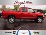 2007 Inferno Red Crystal Pearl Dodge Ram 1500 Big Horn Edition Quad Cab 4x4 #62663120