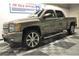 2012 Mocha Steel Metallic Chevrolet Silverado 1500 LTZ Crew Cab 4x4 #62663627