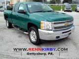 2012 Fleet Green Chevrolet Silverado 1500 LT Extended Cab 4x4 #62663375
