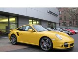 2007 Speed Yellow Porsche 911 Turbo Coupe #62714917