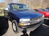 2000 Indigo Blue Metallic Chevrolet Silverado 1500 Regular Cab 4x4 #62714675