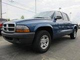 2004 Atlantic Blue Pearl Dodge Dakota SXT Quad Cab #62715054