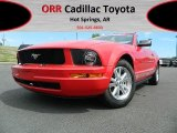 2007 Torch Red Ford Mustang V6 Deluxe Convertible #62714804
