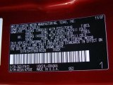 2008 Tundra Color Code for Salsa Red Pearl - Color Code: 3Q3
