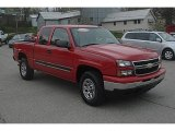 2007 Victory Red Chevrolet Silverado 1500 Classic LT Extended Cab 4x4 #62714939