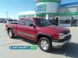 2005 Sport Red Metallic Chevrolet Silverado 1500 Z71 Extended Cab 4x4 #62757846