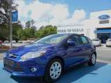 2012 Sonic Blue Metallic Ford Focus SE 5-Door #62757396