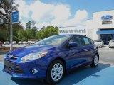 2012 Sonic Blue Metallic Ford Focus SE 5-Door #62757396