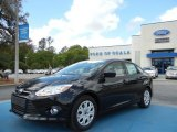 2012 Tuxedo Black Metallic Ford Focus SE Sedan #62757395