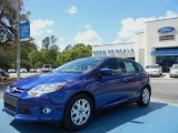 2012 Sonic Blue Metallic Ford Focus SE 5-Door #62757393