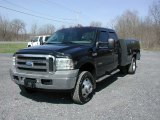 2005 Black Ford F350 Super Duty Lariat Crew Cab 4x4 Dually Utility Truck #62758223