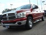 2007 Inferno Red Crystal Pearl Dodge Ram 1500 SLT Mega Cab #62757305