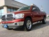2008 Inferno Red Crystal Pearl Dodge Ram 1500 Big Horn Edition Quad Cab #62757303