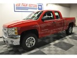 2012 Victory Red Chevrolet Silverado 1500 LS Extended Cab 4x4 #62758205