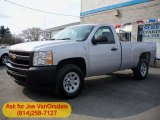 2012 Silver Ice Metallic Chevrolet Silverado 1500 Work Truck Regular Cab 4x4 #62757295