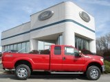 2012 Vermillion Red Ford F350 Super Duty XLT SuperCab 4x4 #62757232
