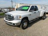 2009 Bright White Dodge Ram 3500 Big Horn Edition Quad Cab 4x4 Dually #62757519