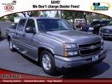 2006 Graystone Metallic Chevrolet Silverado 1500 LS Crew Cab #62840508