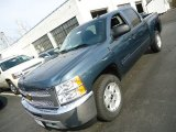 2012 Blue Granite Metallic Chevrolet Silverado 1500 LT Crew Cab 4x4 #62840444