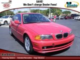 2002 Electric Red BMW 3 Series 325i Coupe #62840502