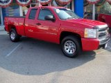 2007 Victory Red Chevrolet Silverado 1500 LT Extended Cab 4x4 #62854068