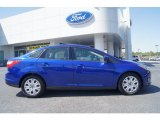 2012 Sonic Blue Metallic Ford Focus SE Sedan #62864655