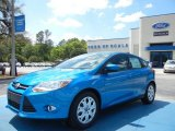 2012 Blue Candy Metallic Ford Focus SE 5-Door #62864541