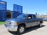 2012 Blue Granite Metallic Chevrolet Silverado 1500 LT Extended Cab 4x4 #62864508