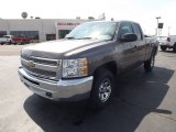 2012 Mocha Steel Metallic Chevrolet Silverado 1500 LS Extended Cab 4x4 #62865090