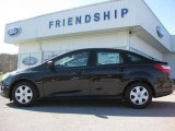 2012 Tuxedo Black Metallic Ford Focus S Sedan #62864446