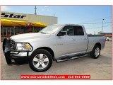 2010 Bright Silver Metallic Dodge Ram 1500 Lone Star Quad Cab #62865048
