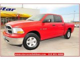 2009 Flame Red Dodge Ram 1500 SLT Crew Cab 4x4 #62865047