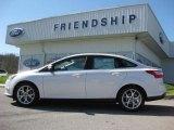 2012 White Platinum Tricoat Metallic Ford Focus SEL Sedan #62864435