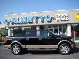 2011 Ebony Black Ford F150 Lariat SuperCrew 4x4 #62864949