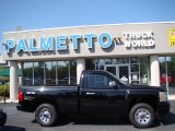 2008 Black Chevrolet Silverado 1500 Work Truck Regular Cab 4x4 #62864948
