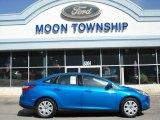 2012 Blue Candy Metallic Ford Focus SE Sedan #62864759