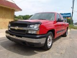 2004 Victory Red Chevrolet Silverado 1500 LS Extended Cab #62976312