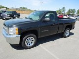 2012 Black Granite Metallic Chevrolet Silverado 1500 Work Truck Regular Cab #62976655