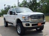 2012 White Platinum Metallic Tri-Coat Ford F250 Super Duty Lariat Crew Cab 4x4 #62976984