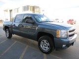 2008 Blue Granite Metallic Chevrolet Silverado 1500 LT Crew Cab 4x4 #62976599